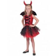 Vegaoo Teufel-Kostüm mit Tüll für Mädchen