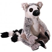 The Petting Zoo Plush Wild Onez Ring Tailed Lemur 10 Inches With 17 Inch Tail