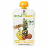 Piure de mere banane ananas si cocos bio 100g Erdbar PROMO