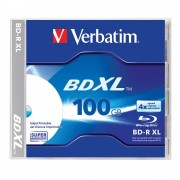 Blu-Ray Verbatim XL 100 GB 4X, printabil, jewel case