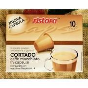 Ristora 10 Capsule Nespresso Compatibili Cortado Ristora