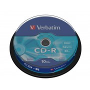 CD-R VERBATIM 700MB 52X EXTRA PROTECTION SPINDLE 10 43437