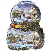 Winter Village Shaped 1000 Piece Jigsaw Puzzle by SunsOut