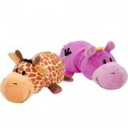 Mascota FlipaZoo 32 cm - Girafa si Hipopotam