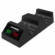 Incarcator DOBE dual charging dock cu indicator LED display si doi acumulatori 600mah pentru Xbox One / S / X / Elite, negru