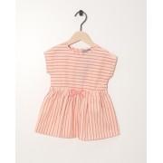 JBC Roze jurkje roze-blauw gestreept met elastische tailleband