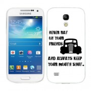 Husa Samsung Galaxy S4 Mini i9190 i9195 Silicon Gel Tpu Model Never Rat On Your Friends B&W