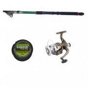 Set pescuit cu lanseta Eastshark 3 6m mulineta NBR4000 cu 5 rulmenti si guta