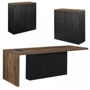 [neu.haus]® Dizajnový kancelársky stôl s 2 skrinkami - 220 x 80 x 77 cm