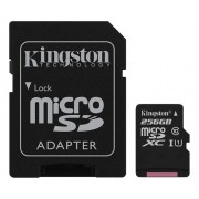 Unbranded Kingston 256gb microsdxc canvas select 80r cl10 uhs-i card+sd ad