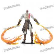 god of war 2 Muneca de juguete con pantalla de accion de PVC - kratos con hojas de fuego