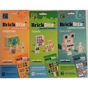 BrickStix SciFi Sticker Combo Pack Bundle of Three Exciting Packs A Total of 160 Stickers Lego Compatible