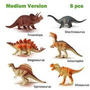 Kunmark Educational Dinosaur Toys Realistic toy dinosaur figures and toddler education Great gift set (6 PCS)