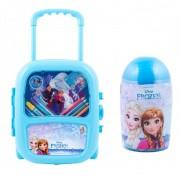 Pachet Frozen - Set troler cu coloriaj + Set de colorat suflarici spray 24 culori