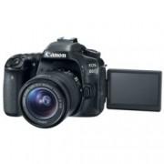 "Canon EOS 80D в комплект с обектив Canon EF-S 18-55mm f/3.5-5.6 IS STM, прахоустойчив, 24.2Mpix, 3.0""(7.62cm) LCD Display, FullHD Video, Wi-Fi/NFC, microUSB, micro HDMI, SDXC (UHS-I) слот, гнездо за слушалки"