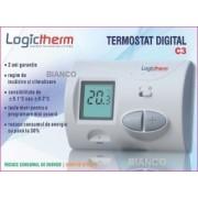 Termostat de ambient Logictherm C3 cu fir