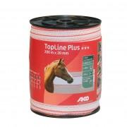 AKO Cinta para valla equitación TOP LINE PLUS blanco - ancho 20 mm x 200 m