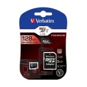 Card De Memorie Verbatim Micro SDXC 128GB Clasa +Adaptor 10 UHS-1