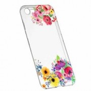 Husa Silicon Transparent Slim Flower LG Q6