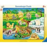 Puzzle Copii 3Ani+ la zoo, 14 piese