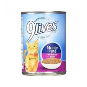 9 Lives Meaty Pate with Real Beef Canned Cat Food, 13-oz, case of 12