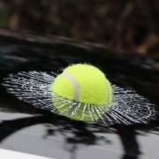 Sticker masina Watch out Tennis Ball 17x17x3 cm