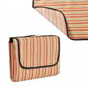 [casa.pro]® Одеяло за пикник, излет, 200 x 190 cm, Червено/Жълто райе