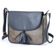 Italian Sheer Grey, Blue Satchel
