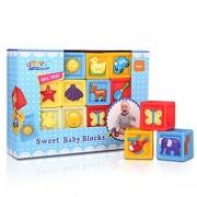 Bemixc Sound Blocking Building Blocks Baby Toys Educational Toys to Develop Imagination 10pcs Birth Birthday Celebration Birth Present