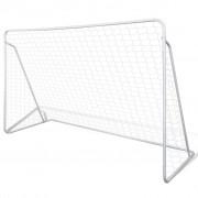vidaXL Poartă de fotbal din oțel calitate superioară set 240 x 90 x 150 cm