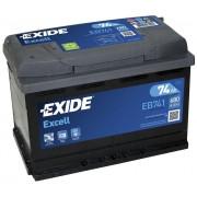 EXIDE Excell EB741 74Ah 680A autó akkumulátor bal+ (+AJÁNDÉK!)