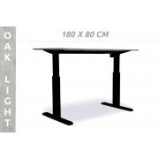 Actiforce PRO 140 M bureau 180 x 80 cm - Oak Light - Zwart