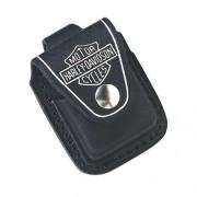 Kožené púzdro 17017 Harley Davidson na zippo zapalovač čierne