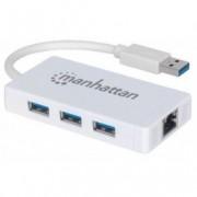 MH adapter USB 3.0Muški/3porta USB3.0+Gigabit RJ45port