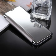 For Samsung Galaxy S8 Plus / G9550 Electroplating Mirror Horizontal Flip Leather Case with Sleep / Wake-up Function Small Quantity Recommended Before Samsung Galaxy S8 Plus / G9550 Launching(Silver)