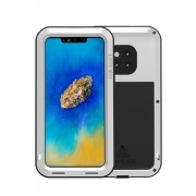 LOVE MEI Dust-proof Shock-proof Splash-proof Defender Phone Cover for Huawei Mate 20 Pro - White