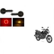 KunjZone Arrow LED Side Indicator for Red&Yellow Set Of 2 For Honda CB Unicorn