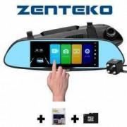 Camera Auto Oglinda Full HD Touch ecran 7 inch SM700 plus Card MicroSD 32GB si tripla auto
