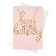 Orelia Kettingen Happy Birthday Giftcard Necklace Goudkleurig