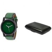 Danzen wrist watch for mens with Black card case -cdz-418