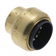 VSH Tectite push eindstop messing 22 mm 2 stuks