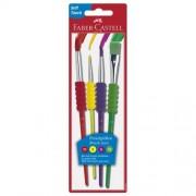Faber-Castell Confezione 4 Pennelli Per Dipingere Misure Assortite Soft-Touch