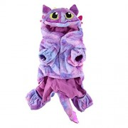 Rrimin Pet Cat Dog Coral Velvet Costumes Fly Dragon Halloween Costume(Pink)(XL)
