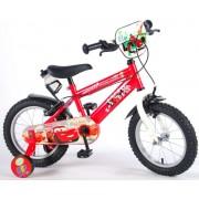 Bicicleta pentru copii 14 inch cu roti ajutatoare si frana de mana Volare Cars 11448-CH-IT
