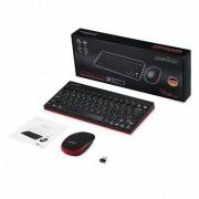PERIXX Kit clavier AZERTY + souris sans fil compact Noir
