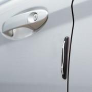Univerzális ajtóélvédő - gumi, krómozott
