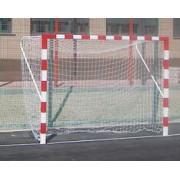 Jogo de Porterias Futebol-Salga e Balonmano Metálicas trasladables 80x80mm com base de cano redondo