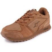 Sparx Men's Camel Black Suede Sports Running Shoes