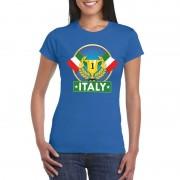 Bellatio Decorations Blauw Italie supporter kampioen shirt dames