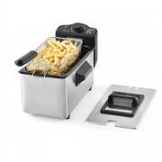 [neu.haus]® Olajsütő fritőz 3 Liter 2000W 40 x 23 x 23 cm rozsdamentes acél fekete/ezüst